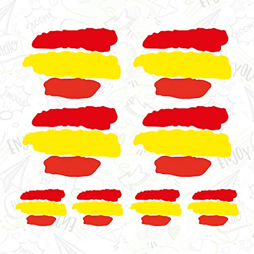 CUAC REVOLUTION 8 x Bandera ESPAÑA Vinilo Adhesivo Pegatina