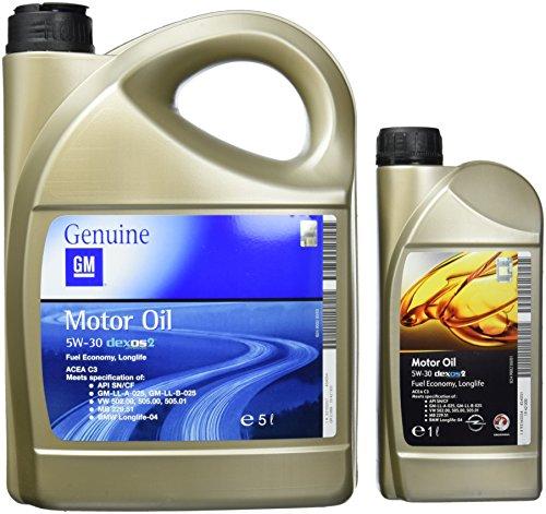 Opel 1942000+1942003 GM Motoröl 5W-30 Dexos2 6 Liter (5 Liter + 1 Liter)