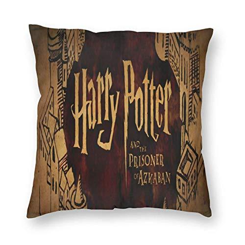 SunnyWarm Harry Potter - Fundas de cojín cuadradas para salón, sofá, dormitorio, con cremallera invisible, 45 x 45 cm