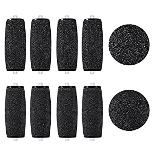 rosenice Pedicura–Rodillos de repuesto para cabeza 4piezas Extra suave + 4piezas Grueso pie archivo de recambios para Velvet Smooth Pedi eléctricos