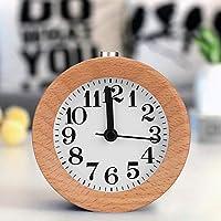 モダンな家庭用時計、天然木素材の丈夫な時計、リビングルームの寝室の教室のためのシンプルで美しい外観のオフィステーブル