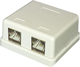 CAT 6A Surface Mount Socket 2 Port LAN Category Cat6a Modular Connector Type Connection Box - RJ45 N