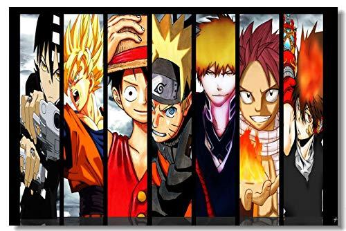 Puzzle 1000 pezzi Manga Anime Naruto Dragon Ball Pittura decorativa puzzle 1000 pezzi clementoni Puzzle educativi intellettuali decompressivi giocattolo divertente gioco per famigl50x75cm(20x30inch)