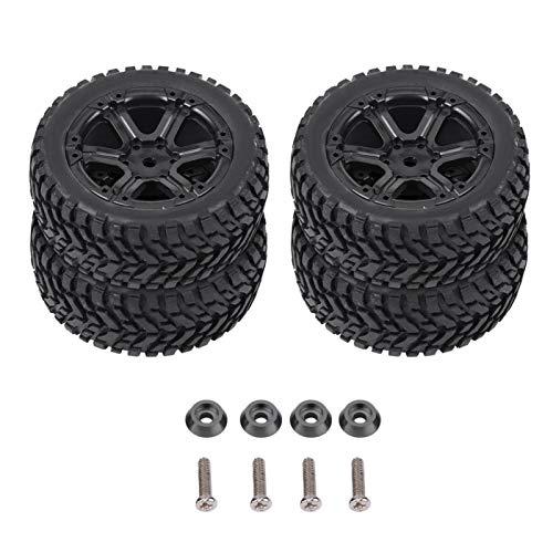 FOLOSAFENAR RC Cars Neumáticos RC Neumáticos Flexibles, para WPL C14 C24 Coche de orugas con Control Remoto, para(Plastic Climbing 6-Hole Black U-Shaped Tire)