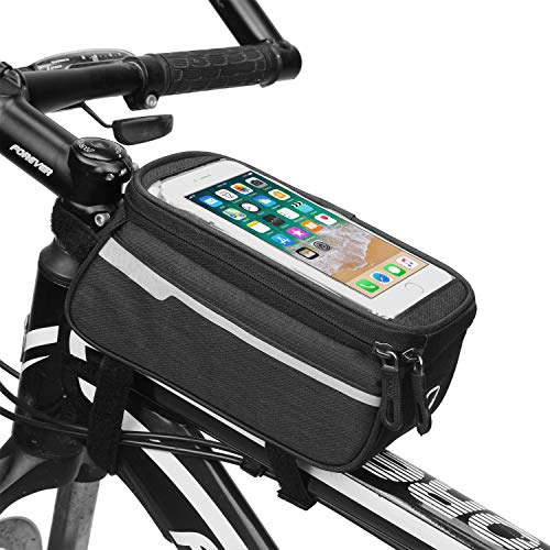 Funda para manillar de bicicleta para Motorola One Zoom, One Vision, Moto G8 Plus, G8 Power, Huawei P40, P30 Pro, Y6, Xiaomi Redmi Note 9, Blackview A60 (negro)