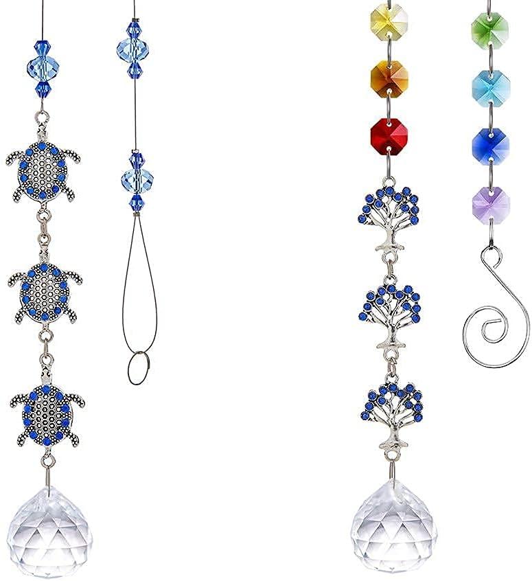 Turtles Bombing List price new work and Life Tree Hanging Suncatcher Bundle Crystal Pendant
