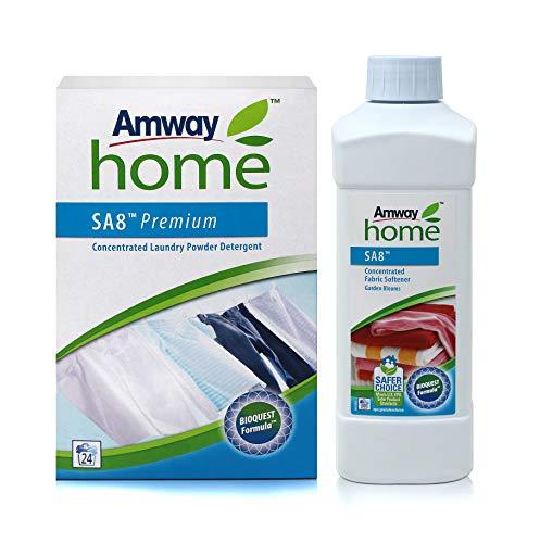 1 x Premium Konzentriertes Vollwaschmittel SA8™ - 1 kg + 1 x Konzentrierter Wäscheweichspüler - Blütenzauber SA8™ - 1 Liter - Amway (Art.-Nr.: 109848) + (Art.-Nr.: 110480)