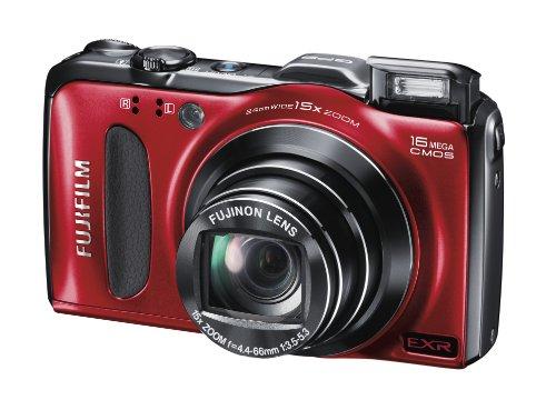 Fujifilm FINEPIX F600EXR Digitalkamera (16 Megapixel, 15-fach opt. Zoom, 7,6 cm (3 Zoll) Display, bildstabilisiert) rot