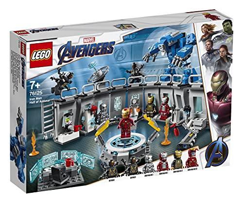 LEGO SuperHeroes Marvel Avengers SaladelleArmaturediIronMan, Playset Laboratorio Modulare con 6 Minifigure dell'Universo Marvel, 76125