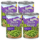 Green Valley Organics Peas   Certified Organic   Deliciously Succulent, Creamy Sweet   15 oz can (Pack of 4)