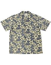 [ルーシャット] アロハシャツ メンズ 綿 総柄 プリント 半袖 開襟シャツ オープンカラー シャツ