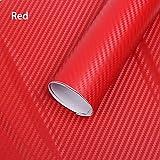 Vinilo Adhesivo simil Fibra de Carbono Rojo para Decoracion Coches Interior y Exterior Acabado 1.27 m x 30 cm Multitud de usos CHPYHOME