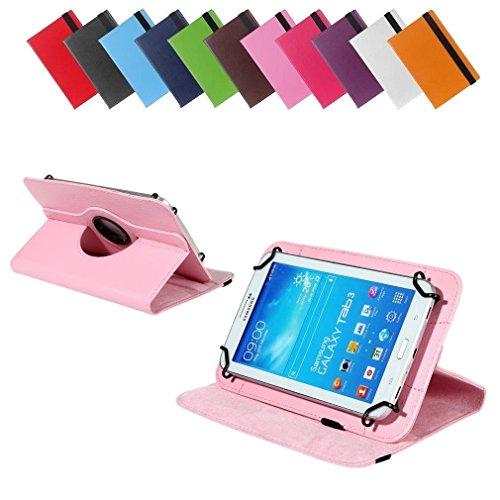 BRALEXX Universal 360° Tablet Tasche passend für i-onik TM3 Serie 1 7 Zoll, 7 Zoll, Rosa