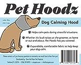 Pet Hoodz para perros ansiedad, aseo orejeras, protección de oído de perro, calmante, compresión de oídos, sudadera con capucha para mascotas, azul (pequeño, azul)