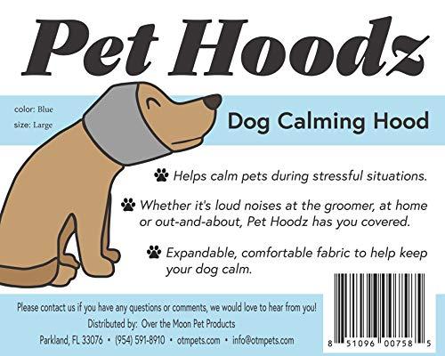 Pet Hoodz für Hunde, Angst, Fellpflege, Ohrenschützer, Hundeohrschutz, beruhigend, Ohrkompression, Haustier-Kapuzenpullover, Hunde-Kapuzenpullover, Blau (klein, blau)