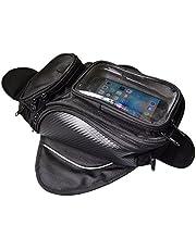 VISPREA バイク用 タンクバッグ スマホ ツーリング バッグ ショルダーバッグ メンズ レディース 通勤通学 2way大容量 防塵 マグネット 強力 (レインカバーなし)