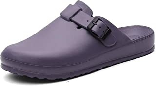 Baotou slippers Wear waterproof and non-slip EVA slippers Indoor soft bottom sandals and slippers Unisex (Color : Purple, Size : 37EU/5UK/6US)