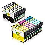 Gohepi 071XL Compatible pour Cartouches Epson T0711 T0712 T0713 T0714 avec Epson...