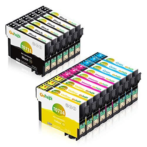 Gohepi T0715 Cartucce Compatibili Epson T0711 T0712 T0713 T0714 per Epson SX100 SX110 SX200 SX210 SX218 SX400 DX4400 DX4450 DX5050 DX7400 DX8400 DX8450 BX600FW (6 Nero,3 Ciano,3 Magenta,3 Giallo)