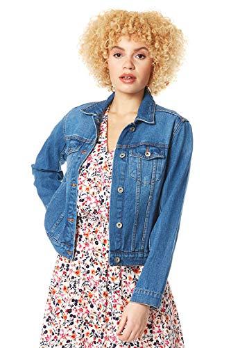 Roman Originals Women Jean Denim Jacket - Ladies 100% Cotton Summer Casual...