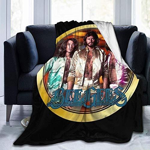 Yaxinduobao Bee-Gees Logo Soft and Warm Throw Manta Fleece Manta 50 X40 60 X50 80 X60 in