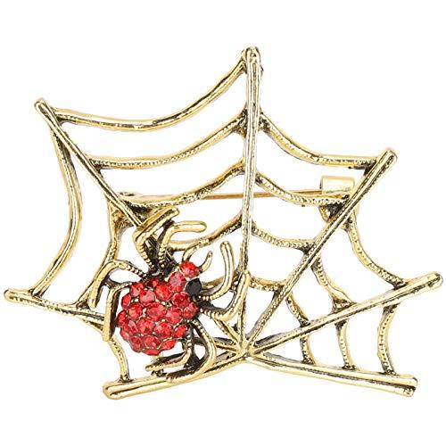 Vcriczk Joyas de aleación, Broche de Diamantes, Simple para Abrigo, Bolso, cárdigan, Bandolera(CHJ-2087 Red Diamond)