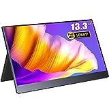 EVICIV 13.3インチ超薄型/モバイルモニター/モバイルディスプレイ/IPSパネル/狭額デザイン/USB Type-C/ミニHD/保護ケース付 EVC-1302