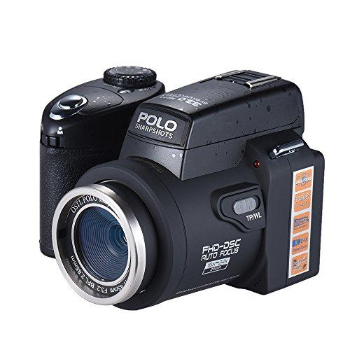 Andoer Polo Sharpshots Appareil Photo Numérique Autofocus AF 33MP 1080p 30 fps FHD 8 X Zoomable W /...