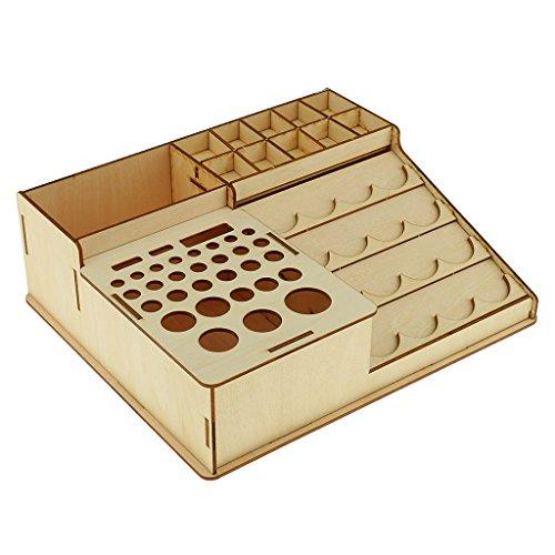 木製エポキシ工具 収納ホルダー ペイントボトルラック 4サイズ - #3
