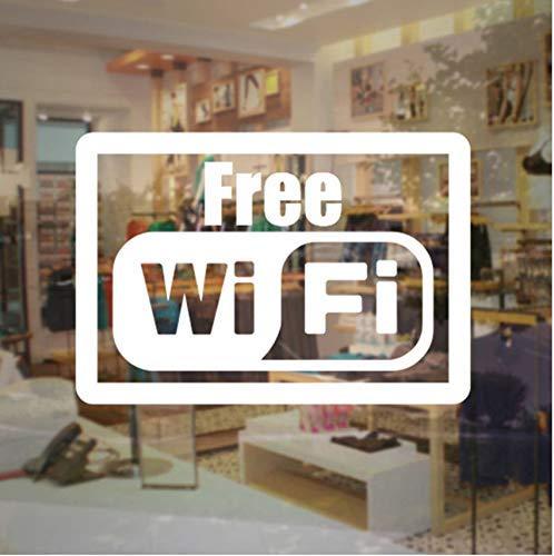 Kostenlose Wifi Sticker Store Business Sign - Internetzugang Vinyl Aufkleber Günstige Verkauf Business Sticker Für Glastür Fenster 57X39Cm