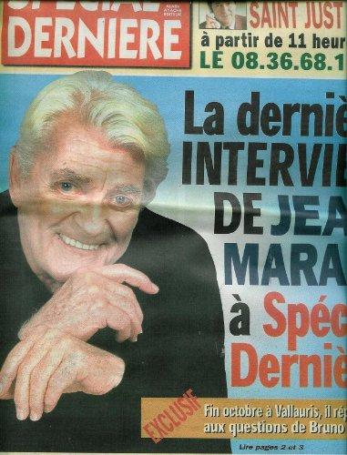 Spécial Dernière - n°4502 - 14/11/1998 - La dernière interview de Jean Marais