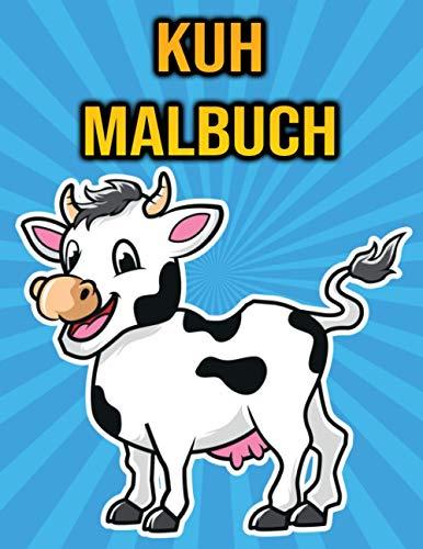 Kuh Malbuch: Für Kinder, Jungen & Mädchen | mit Kühen und Bullen - Geschenke für Kinder
