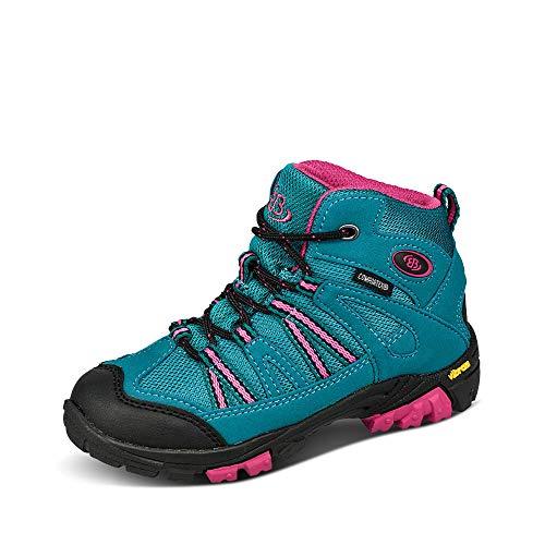 Brütting OHIO HIGH Mädchen Trekking- & Wanderstiefel, Türkis/ Pink, 37 EU