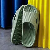 Zapatillas Casa Chanclas Sandalias Zapatillas De Mujer para El Hogar Hombres S Interior Baño Baño Antideslizante Zapatos De Casa De Fondo Suave Sandalias De Mujer-Green_7