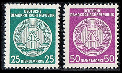 Goldhahn DDR Dienstmarken postfrisch ** Nr. D 23xI+26xI je in XI+XII Briefmarken für Sammler