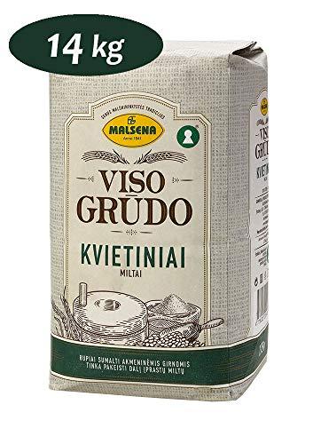 MALSENA 14kg Harina de Trigo Integral, Harina Integral 8 x 1,75 kg