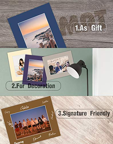 Golden State Art Pack of 20 Mixed Colors 8x10 Picture Mats Matting with White Core Bevel Cut for 5x7 Pictures