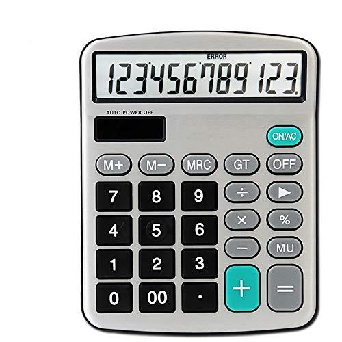 LMDZSW 12-stelliger elektronischer Taschenrechner Büro-finanzieller realer sprechender Taschen-Solarrechner mit Batterie-Doppelenergie