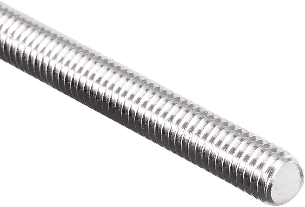 Right Hand Threads,Bar Studs Silver Tone 20 Pcs WEIJ M6 x 35mm 1mm Pitch Fully Threaded Rod 304 Stainless Steel