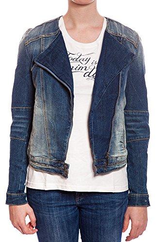Mustang Damen Jeansjacke Biker Jacket (Gr. Large (Herstellergröße: L))