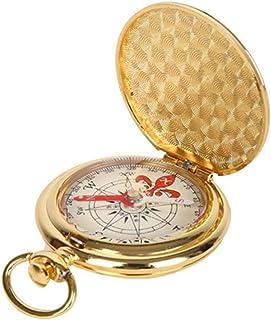A/A MOTINGDI Portatile Rame Retro Flip Pocket Watch Compass Alpinismo Campeggio Escursionismo Outdoor Navigazione Bussola