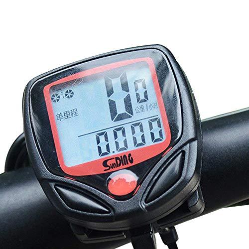Amyou 自転車スピードメーター防水ワイヤレス自転車バイクコンピュータとサイクリング走行距離計多機能LCDバックライトディスプレイ