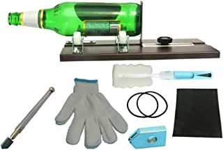 Bottle Cutter Antirust Square & Round Bottle Cutting Machine Accessories Tool Kit Gloves Fixing Rubber Ring for Liquor Soda Whiskey Mason Jars