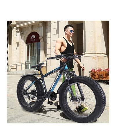 Mountain Bike Fat Tire Mens,17-Inch/Medium High-Tensile Aluminum Frame, 21-Speed, 26-inch Wheels Tolan Disc MTB Mountain Bike