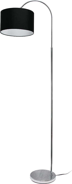 Simple Designs LF2005-BLK Floor Lamp Nickel Popular products Base Black Brushed Regular dealer