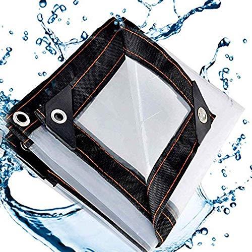 Lona Transparente de Vidrio Impermeable Resistente Grueso Transparente Polietileno carport Gazebo Parabrisas a Prueba de Lluvia Mantener el Calor 23 tamaños (Color: Transparente Ta