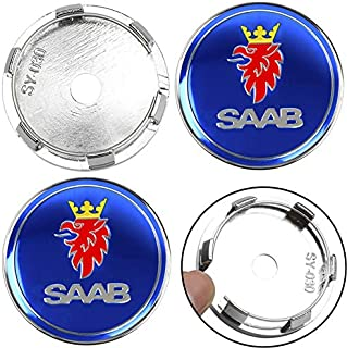 60mm Logo tapacubos Insignias Saab Automobile 9-39-59009000 Saab 9395 Auto Parts Csfssd 4