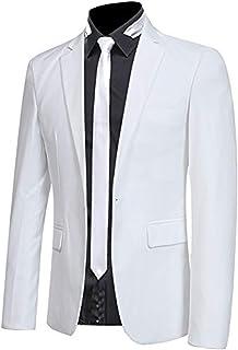 Amazon.es: Blanco - Blazers / Trajes y blazers: Ropa