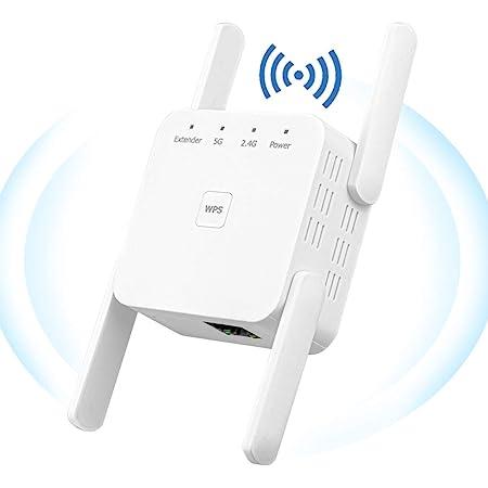 YUIN Amplificador Señal WiFi - 1200Mbps Repetidor WiFi,Amplificador WiFi 2.4 GHz/ 5Ghz,Extensor de WiFi,con Ethernet WAN/LAN, WPS, Admite Modo ...