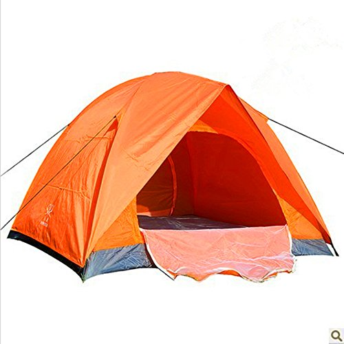 Review Of Kids Play Tunnels Mountaineering Tents 3-4 People Double Open Door Pressure Plastic Tent W...